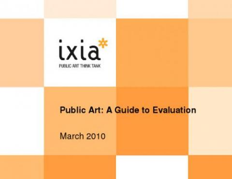 Public Art: A Guide to Evaluation | Animating Democracy